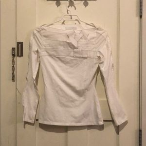 Anne Fontaine White Top with Stretch and detail 36
